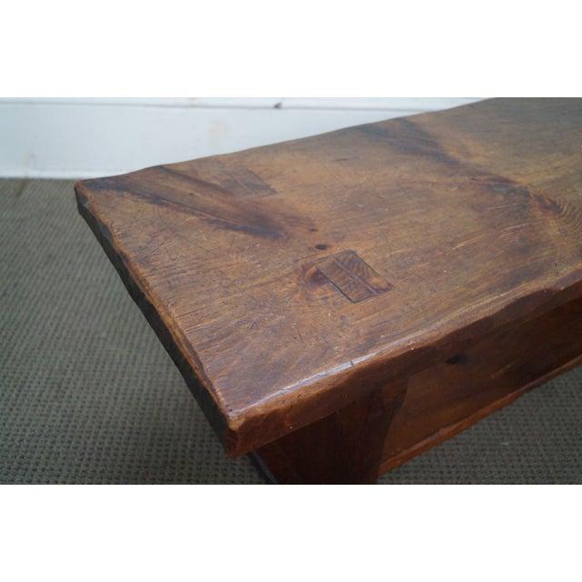 Rustic Wood Slab Industrial Coffee Table: Rustic Slab Wood Coffee Table