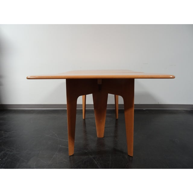 Heywood Wakefield Wheat Gate Leg Drop Leaf Table - Image 5 of 11