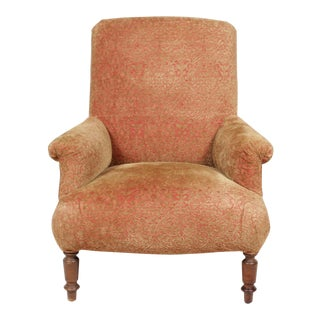 Edwardian Era Velour Armchair