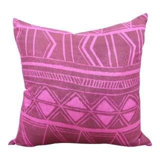 1950s Pink Tahitian Fabric Pillow