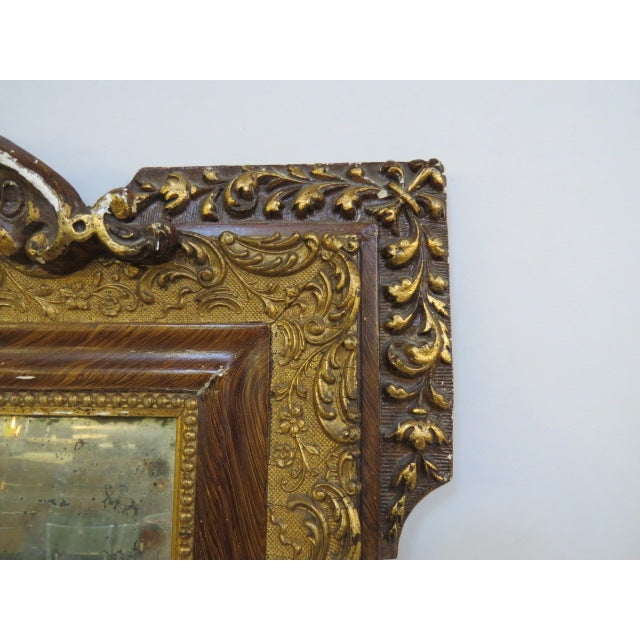 Antique Gilded Mirror - Image 5 of 7