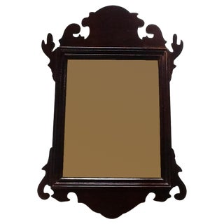 Hickory Ornate Wooden Mirror