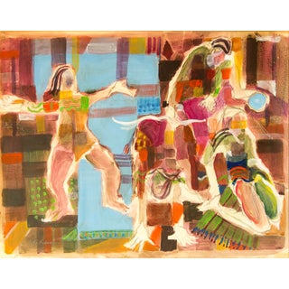 Abstract Painting of Intertwined Figures by Jacklyn Friedman