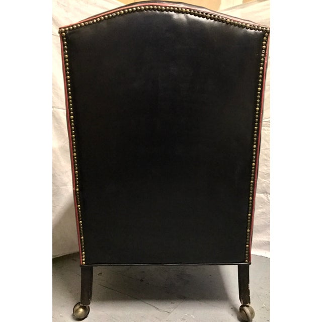 Brass Studded Wingtip Leather Executive Chair Chairish