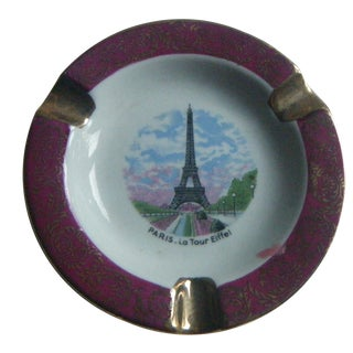 Vintage Limoges Paris Eiffel Tower Ashtray
