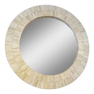 Bone Veneer Round Mirror