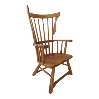 Sikes Furniture Co. Modernist Windsor Lounge Chair