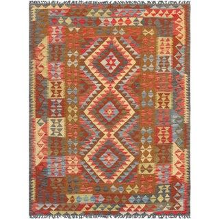"Anatolian Kilim Hand Woven Area Rug - 4'8"" x 6'4"""