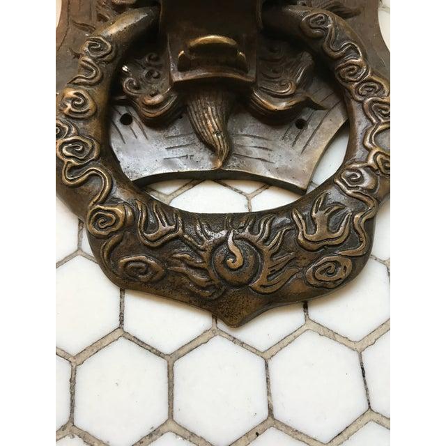 Asian Dragon Brass Door Knocker - Image 7 of 10
