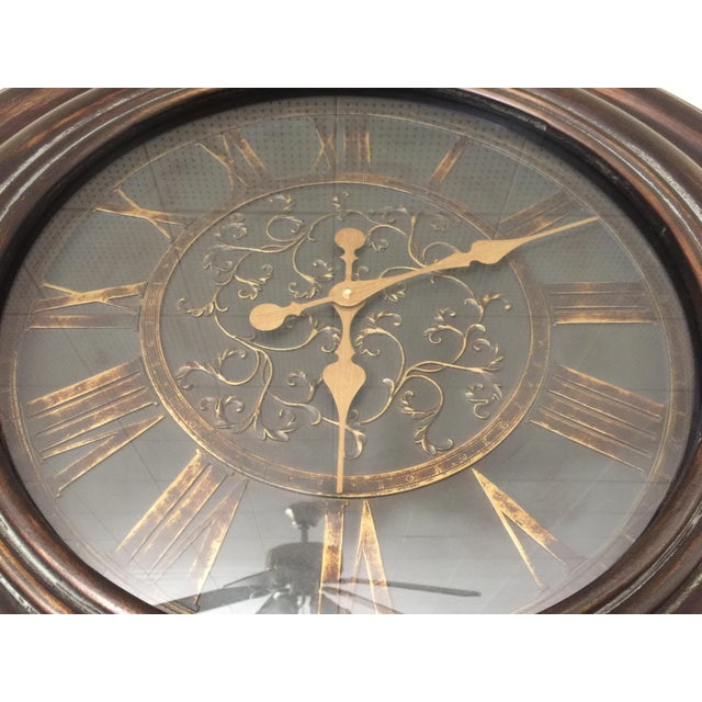 Bronze Finish Traditional Wooden Clock - Image 3 of 5