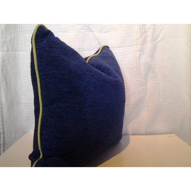 Robert Allen Custom Cobalt Blue Pillow - Image 4 of 4
