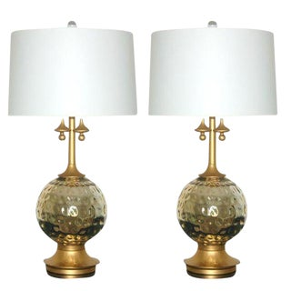 Mercury Glass Lamps in Champagne