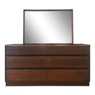 Dillingham Mid-Century Modern 6~Drawer Dresser & Mirror