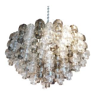 Murano 2 colors mid century chandelier