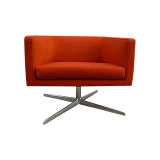 Red Mid-Century Modern Lounge Chair