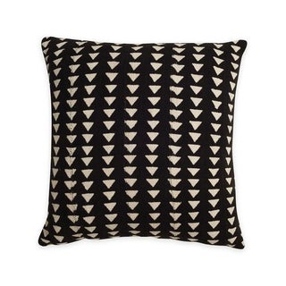 Black & White Triangle Print Mudcloth Pillow