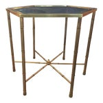 Image of Mastercraft Brass Side Table