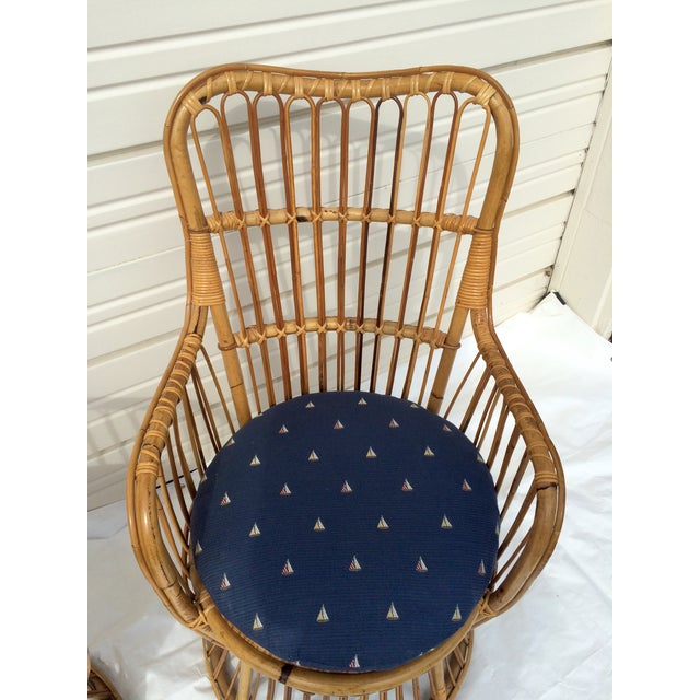 Boho Chic Rattan Chairs - A Pair - Image 8 of 9