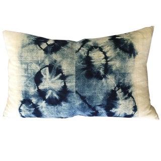 Indigo Tie Dye Shibori Pillow
