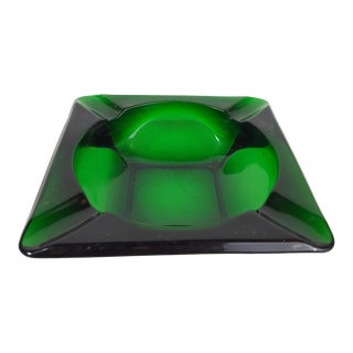 Mid-Century Anchor Hocking Forrest Green Ashtray