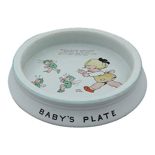 English Shelley Fairy Baby's Plate