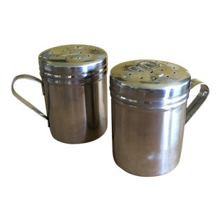 Stainless Steel Rustic Salt & Pepper Shakers