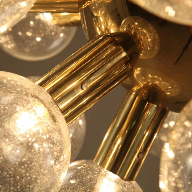 Several Robert Haussmann Brass Sputnik Pendants Holding Twenty Eight Bulbs - Image 8 of 10