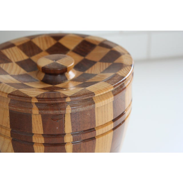 Lidded Wooden Pedestal Bowl - Image 3 of 10