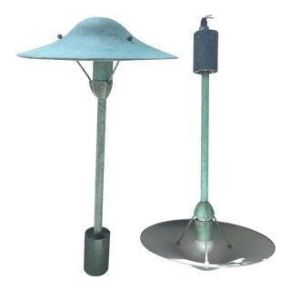 Vintage Industrial Pendant Light Fixture - One Remaining
