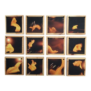 In Flux - Abstract Photography on Wood - 12 Pcs