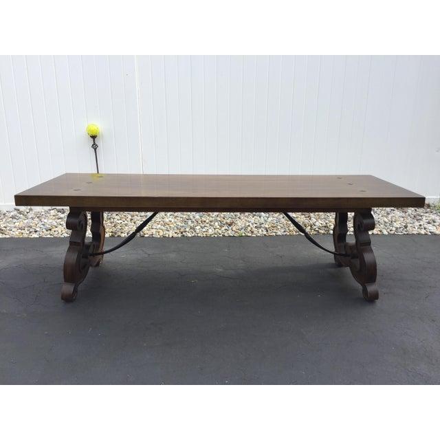 Vintage Drexel Wood Amp Iron Coffee Table Chairish