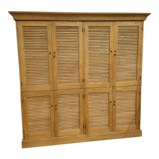Restoration Hardware Shutter Double Armoire Weathered Oak Drifted
