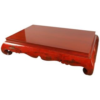 "19th Century Very Large Red ""Kang"" Table"