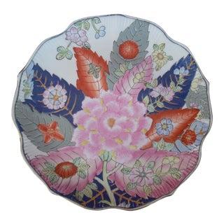 Chinoiserie Tobacco Leaf Plate