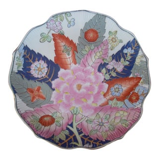 Chinoiserie Tobacco Leaf Plate