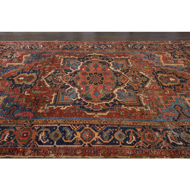 "Image of Apadana Antique Persian Heriz Rug - 7'3"" X 9'10"""