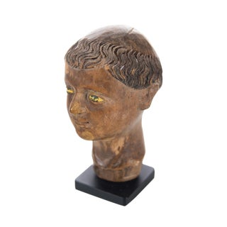 17th C. Spanish Colonial Polichrome Miniature Bust