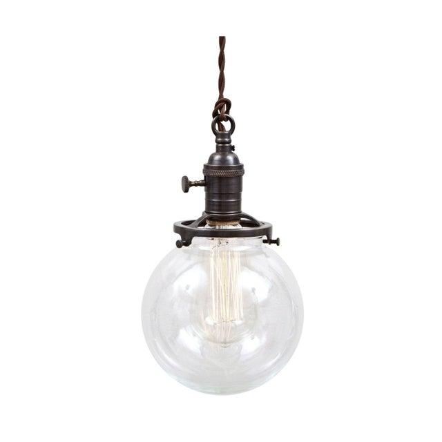 Brass Switch Socket Pendant Light- Glass Ball