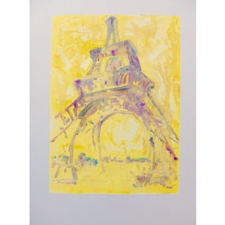 Sunlight on the Eiffel Tower Monotype