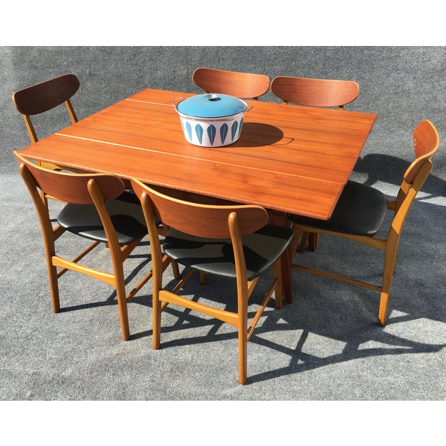 Danish modern elevator coffee dining table chairish for Cie no 85 table 4