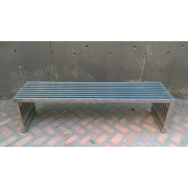 Image of Industrial Steel Bench/Coffee Table/TV Stand
