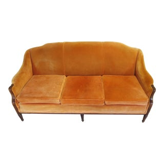1940's Antique Orange French Sofa