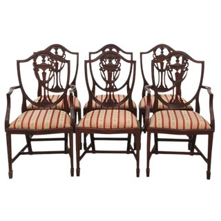 Shield Back Dining Chairs, S/6
