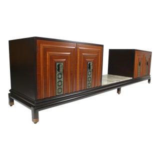 Exquisite Renzo Rutili Custom Cabinet Ensemble