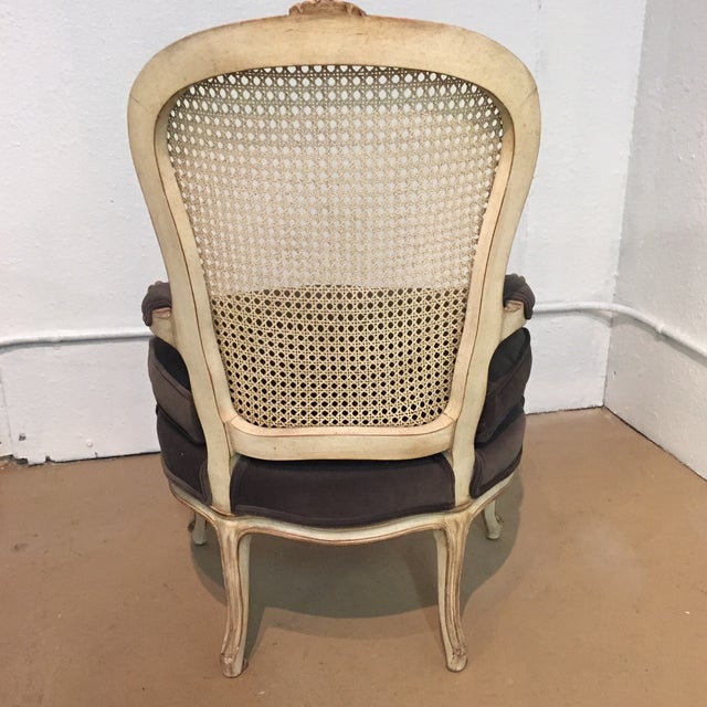Vintage French Bergere Chairs - A Pair - Image 4 of 7