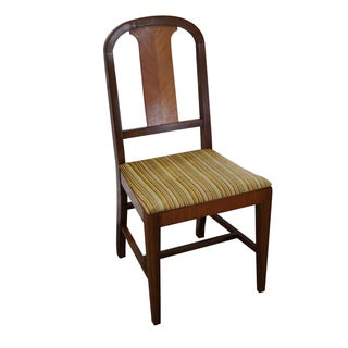 Vintage Art Deco Satin Wood Side Chair