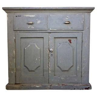Early 20th Century Painted Gray Cabinet