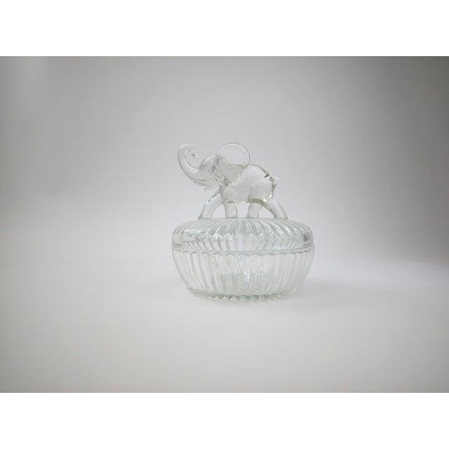 Glass Lidded Elephant Bowl - Image 7 of 7