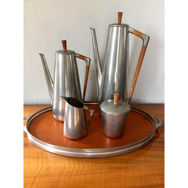 MCM Royal Holland Pewter Coffee/Tea Set for 5 - Image 5 of 5