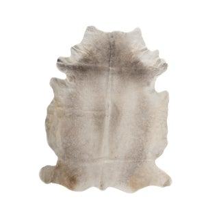 Handmade Taupe Cowhide Area Rug - 6′ × 7′